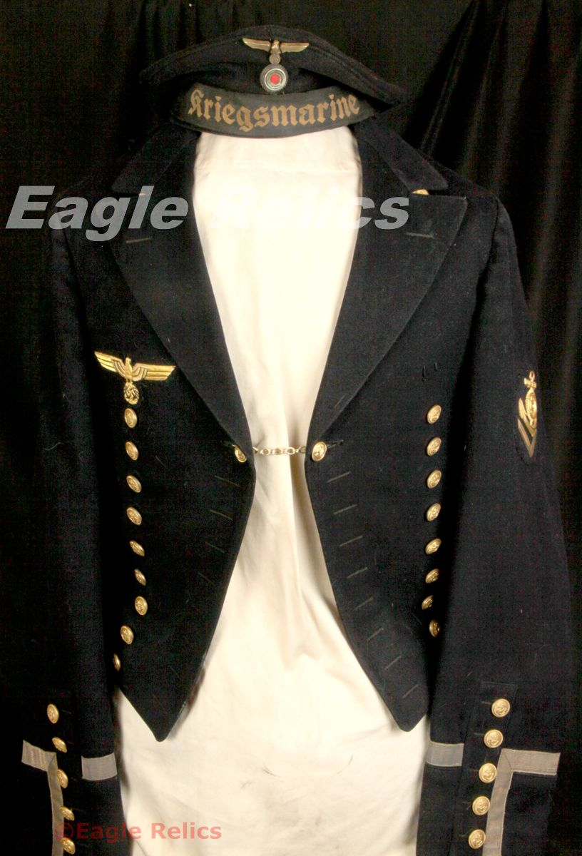 Kriegsmarine Dress Tunic Chief Petty Officer Eagle Relics