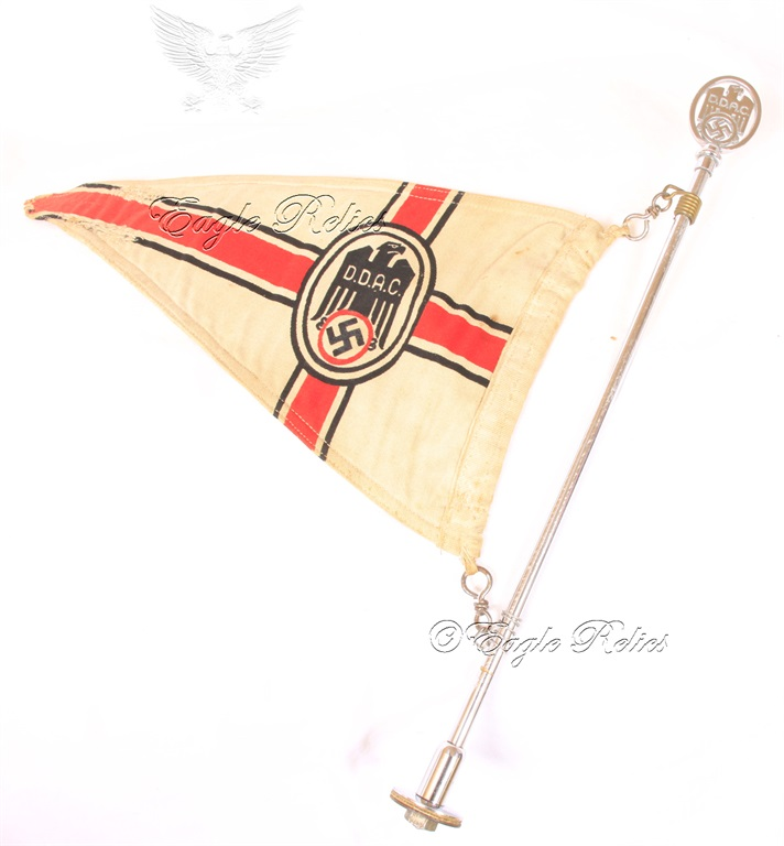 DDAC Car Pennant with DDAC Topper – Poles + Box | Eagle Relics